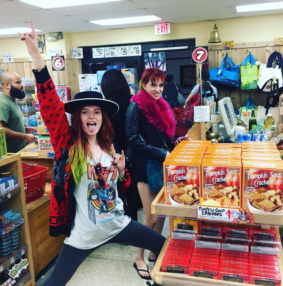 Bella Thorne posts pic of her Thanksgiving prep, is all of us at Trader Joe's