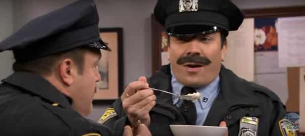 Watch Jimmy Fallon get messy in this '80s cop show sketch