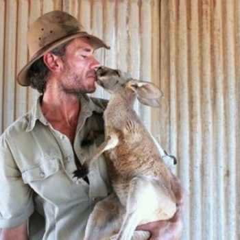 This rescued kangaroo has to hug her keepers every morning and sorry, our hearts just exploded