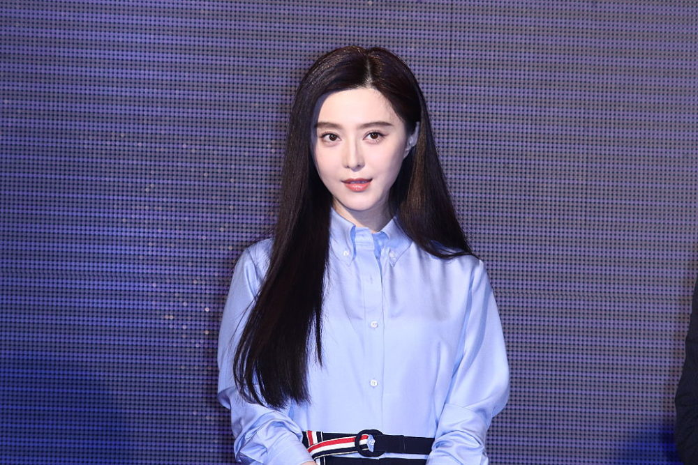 New trend alert: we are madly in love with the extreme beaded detail on Fan Bingbing's navy dress