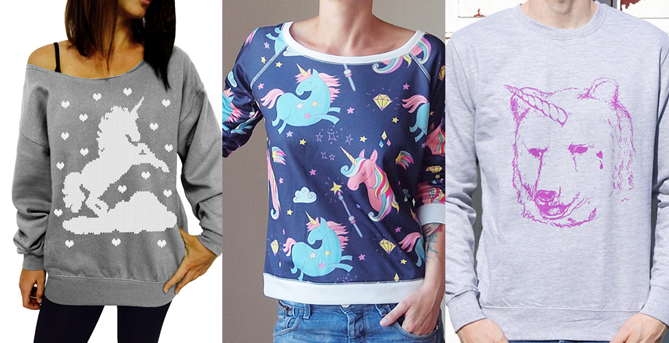 13 Unicorn sweaters because we all know we deserve at least one