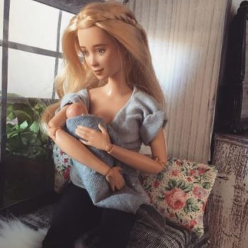 This mom made a breastfeeding Barbie doll to teach kids about motherhood, and we're here for it