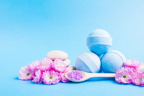 Watch a bath bomb get made and feel your stress melt away