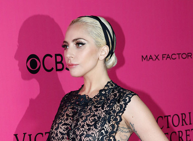 Lady Gaga walks the Victoria's Secret Fashion Show pink carpet looking like a flawless mannequin