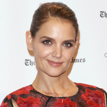 Katie Holmes has bangs! (And tbh, this look was made for her)