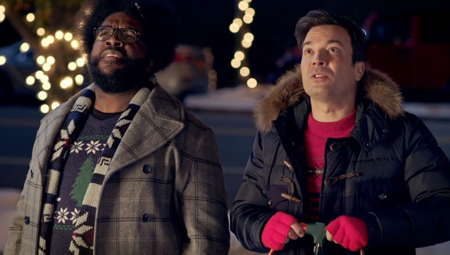 Jimmy Fallon's first promo for the Golden Globes brings us so much holiday cheer