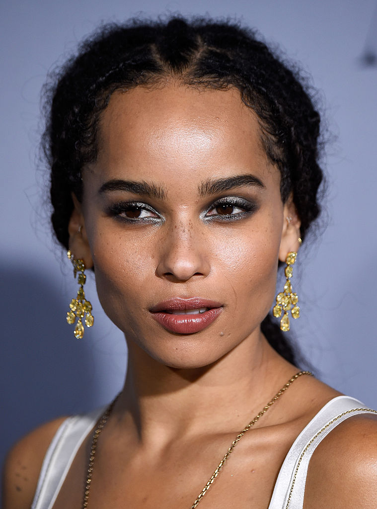 Zoe Kravitz's nearly-nude ensemble relies on a few, um, well-placed patches
