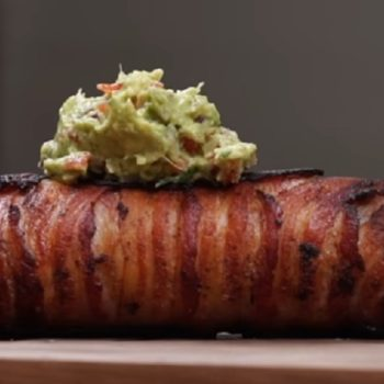 This massive bacon-wrapped breakfast burrito will leave you completely speechless