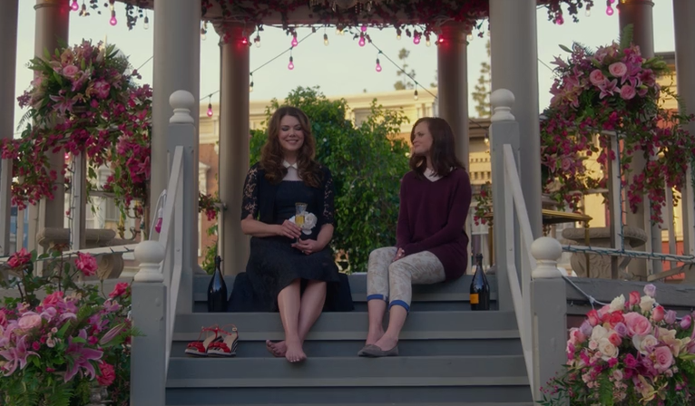 "Unlike the last four words, the [spoiler] on ""Gilmore Girls"" wasn't always planned"