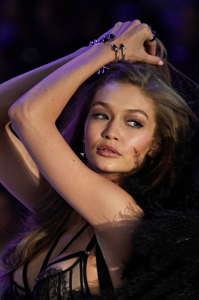 Gigi Hadid has a wardrobe malfunction during the Victoria's Secret Fashion Show, handles it like a pro
