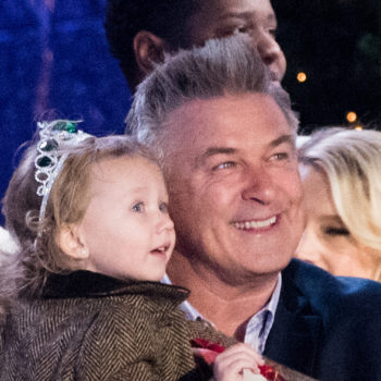 Alec Baldwin's young daughter is the star of the Rockefeller Center Christmas Tree lighting