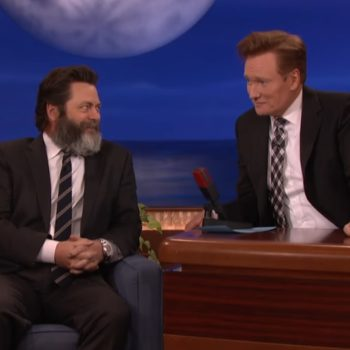 Nick Offerman wrote a book that includes an erotic cartoon of Chris Pratt, so Merry Christmas to us all