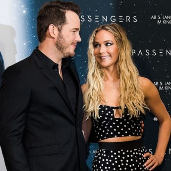 Chris Pratt is still cropping Jennifer Lawrence out of his Instagram photos, but it's all in good fun