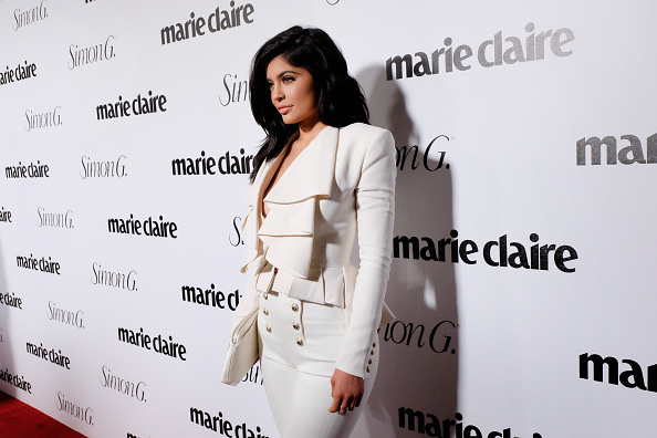 Kylie Jenner's fishnet stockings have the most perfect holiday twist