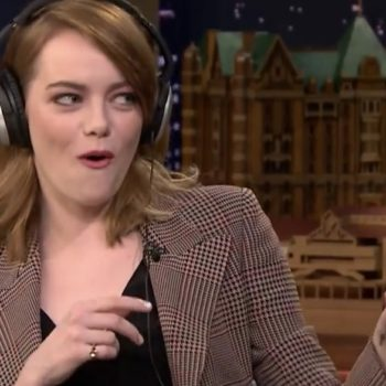 Emma Stone just nearly failed Jimmy Fallon's whispering game and it's amazing