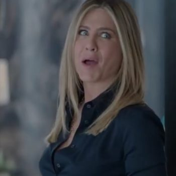 """Jennifer Aniston apparently got a little too into her acting in """"Office Christmas Party"""""""