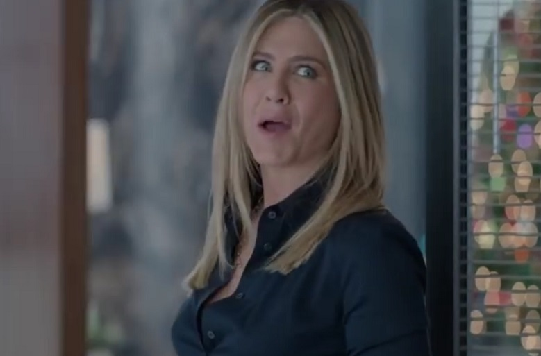 "Jennifer Aniston apparently got a little too into her acting in ""Office Christmas Party"""