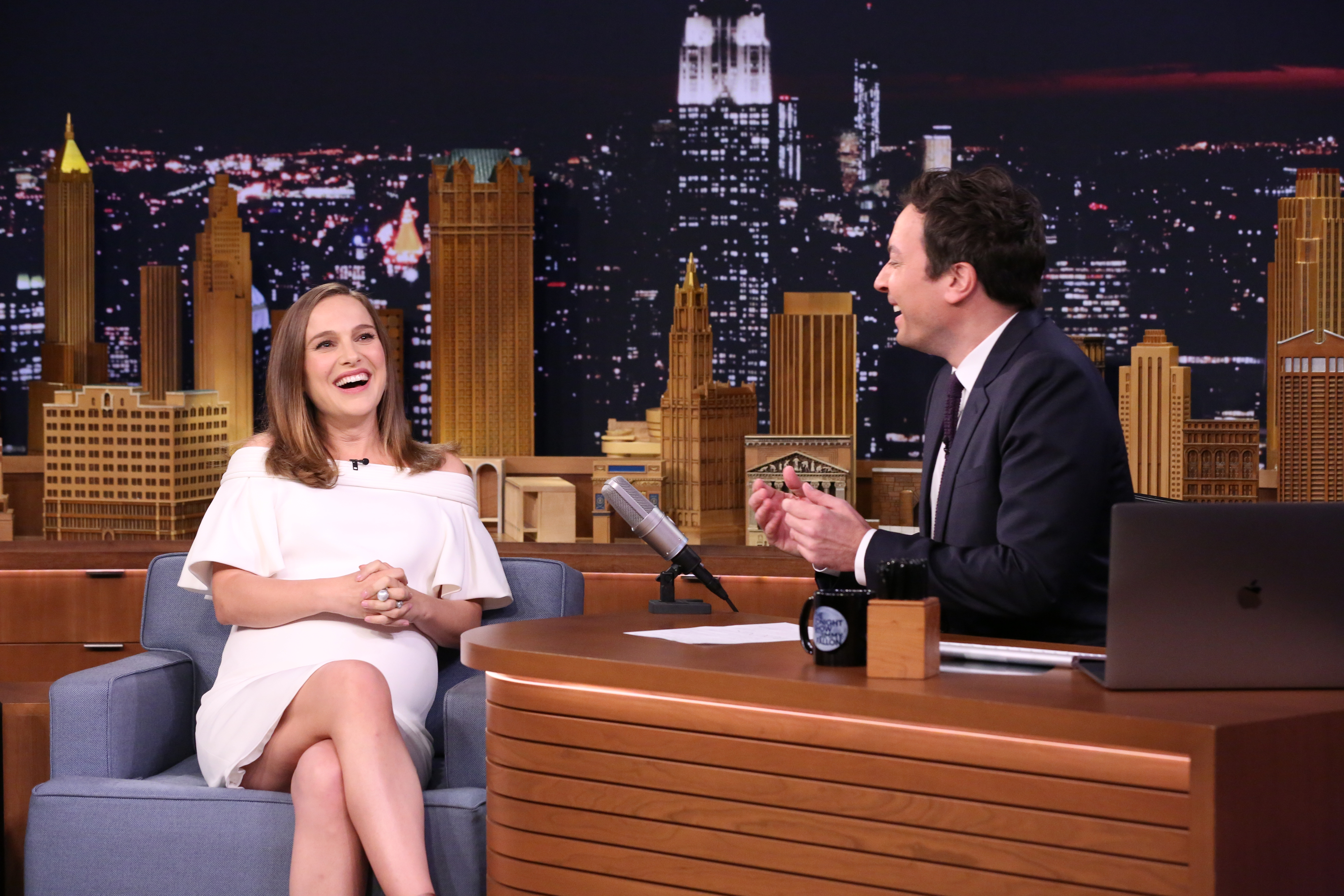 Natalie Portman wants people to calm down about her baby bump