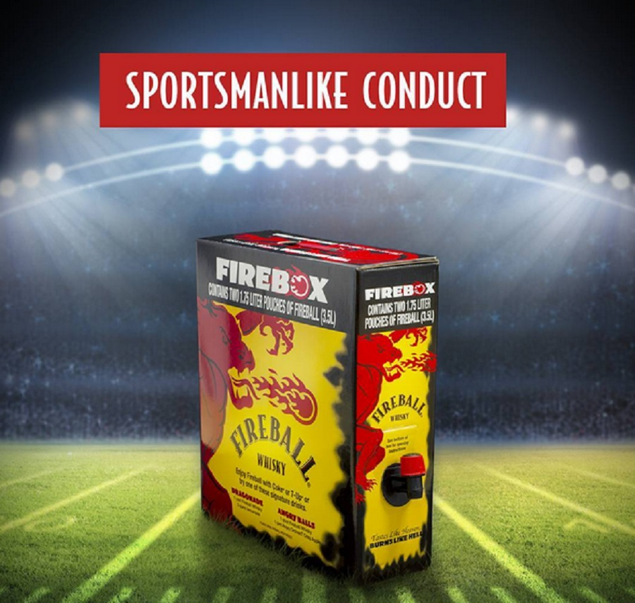 You can now buy Fireball whisky in a box for your convenient holiday drinking needs