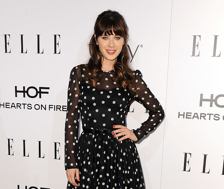 "Zooey Deschanel's ugly Christmas sweater is one we imagine her ""Elf"" character would love"