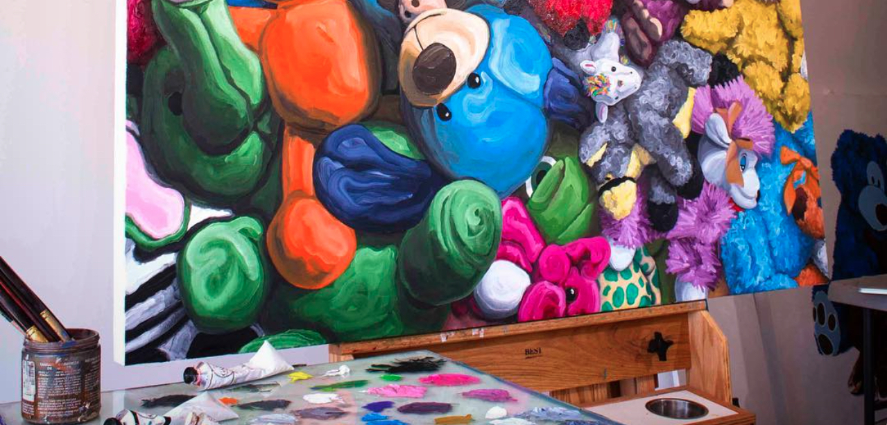 This artist quit their job to paint stuffed animals, and we dig it