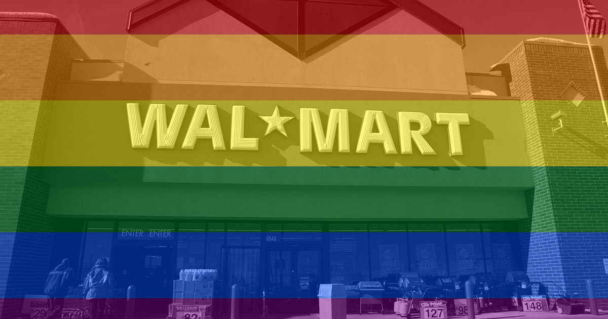 Walmart just helped the gay rights movement in a MAJOR way and here's why it's important