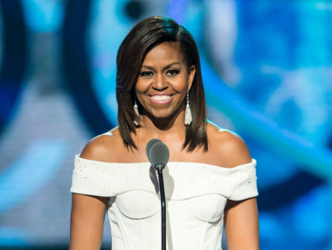 Here's why everyone is talking about Michelle Obama's green dress