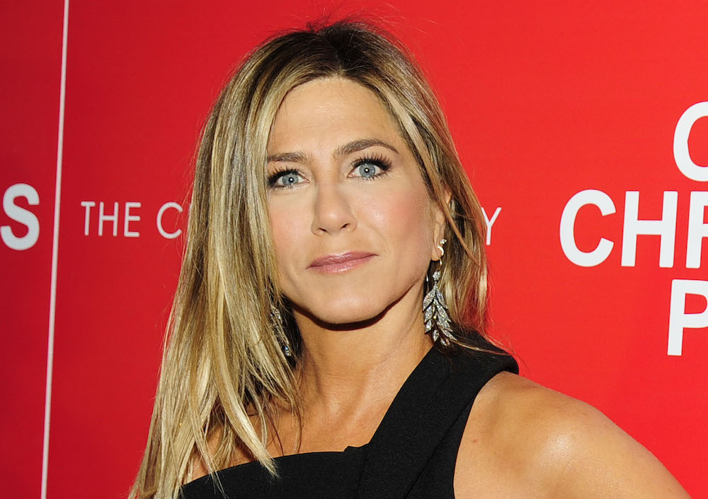 Jennifer Aniston looks effortless and elegant in the perfect black jumpsuit