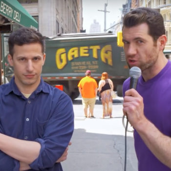"Watch Andy Samberg and Jon Hamm poke fun at unnecessary movie franchises with ""Billy on the Street"""