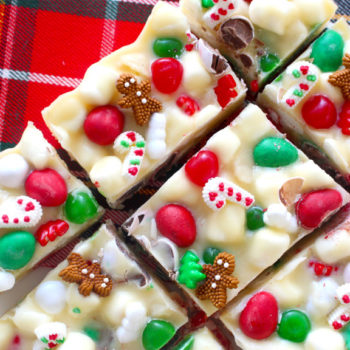This perfectly festive chocolate fudge is actually the cutest dessert we've ever seen