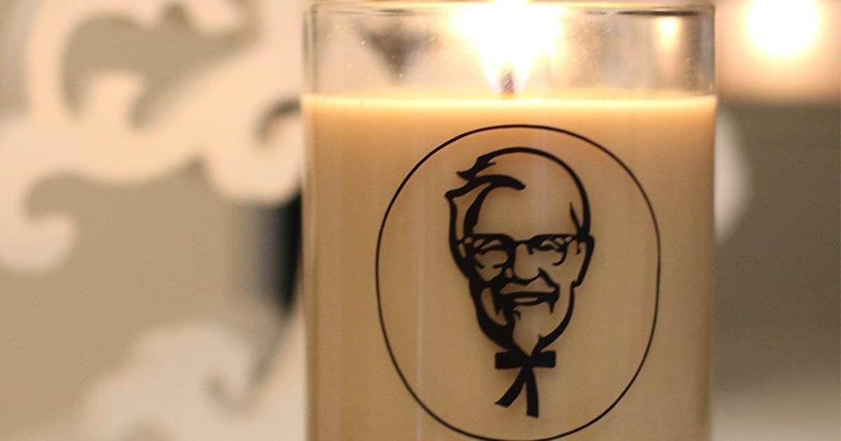 There's a KFC scented candle so now your home can smell like fried chicken 24/7