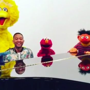 "John Legend sent a message to baby Luna with an entire crew of ""Sesame Street"" muppets, and WE CAN'T EVEN!"