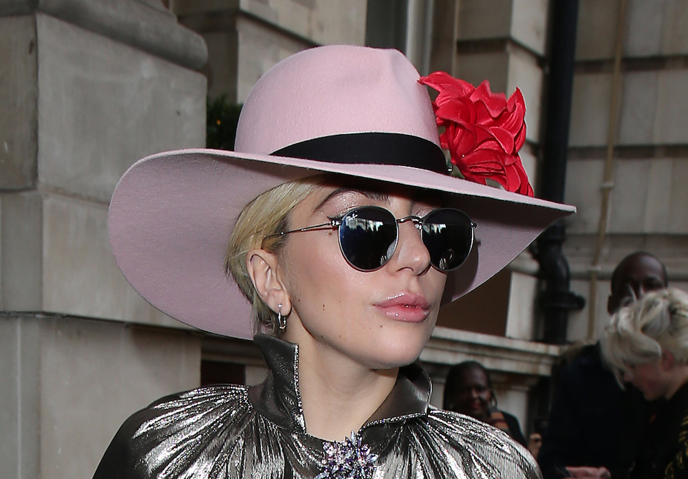 Lady Gaga looks like a stunning piece of silver in this eye-catching metallic dress
