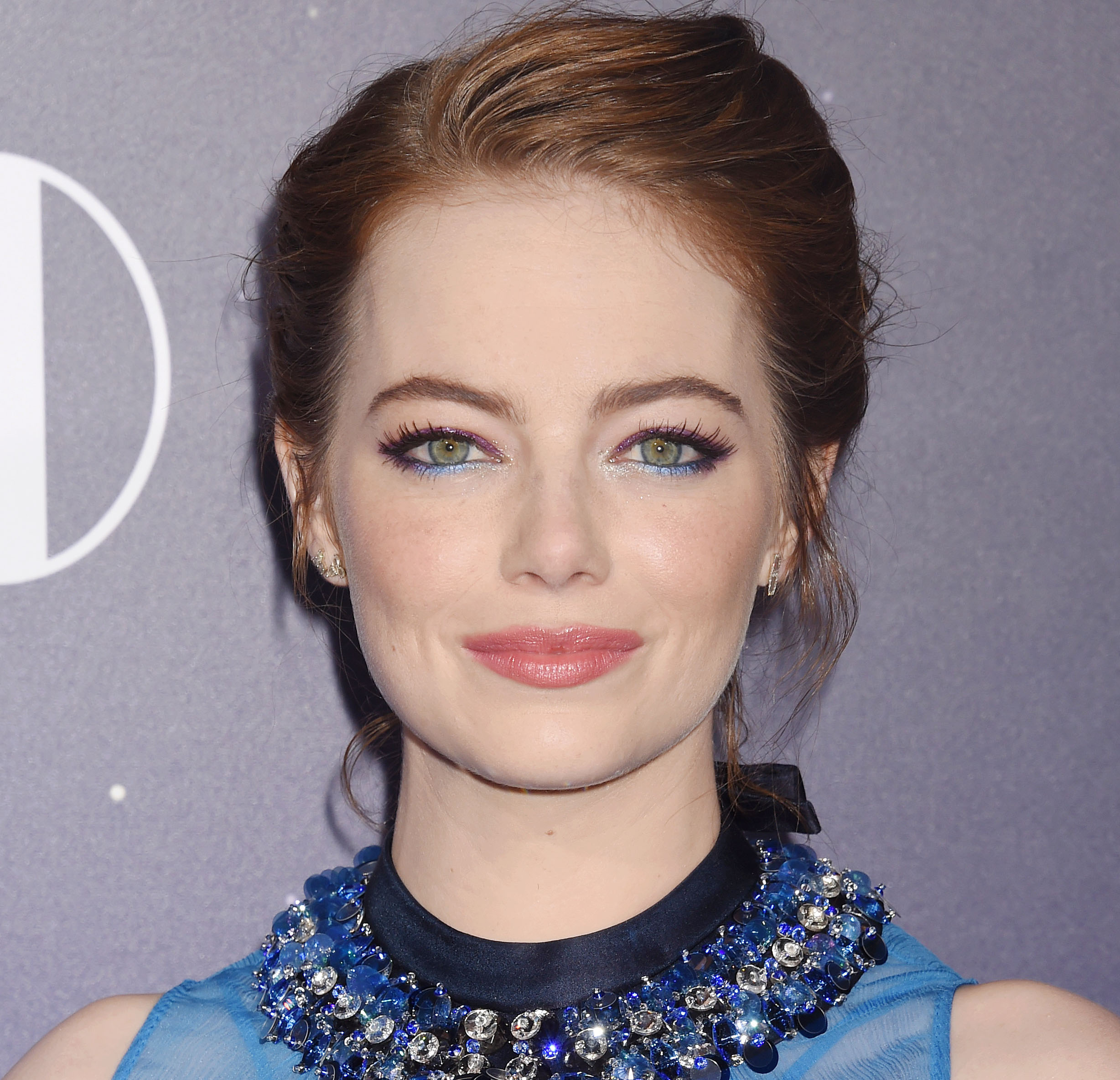 Emma Stone's quirky blouse looks like the coolest science experiment
