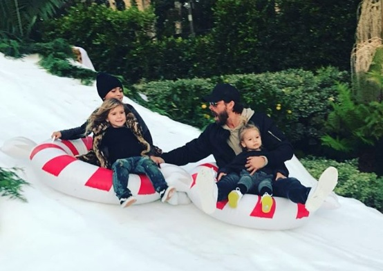 Kourtney Kardashian and Scott Disick went snow tubing with their kids, and we're loving them back together!