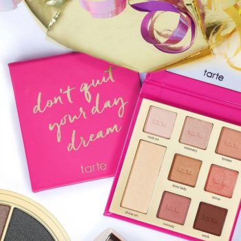 These are all the new cheek and eyeshadow palettes Tarte just launched and they look dreamy