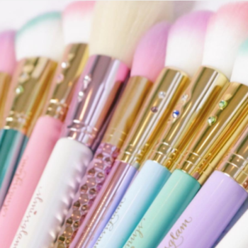 These brushes were made for all the makeup-loving unicorns, fairies, and mermaids you know