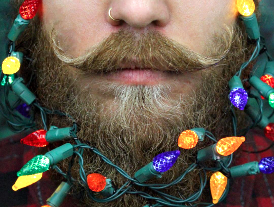 """So, """"Christmas beards"""" are a thing now, in case you were wondering if the holidays could get any more festive"""