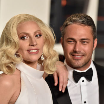 Lady Gaga shared a pic of Taylor Kinney hanging with her mom, and it's hitting us in the feels