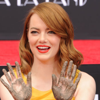 These are the shoes Emma Stone wore when getting her feet immortalized in cement
