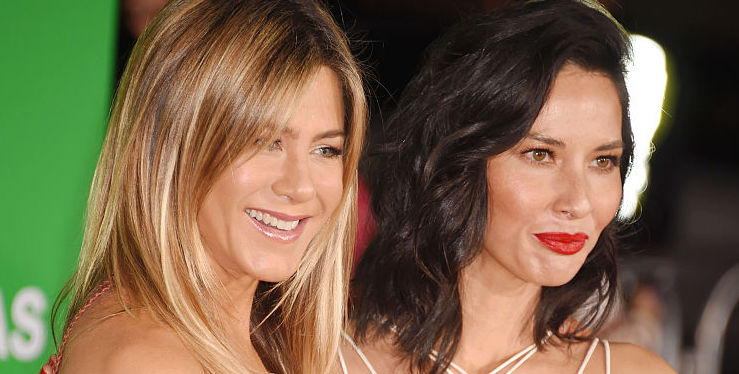 "Jennifer Aniston and Olivia Munn together at the ""Office Christmas Party"" premiere gave us major Coachella vibes"