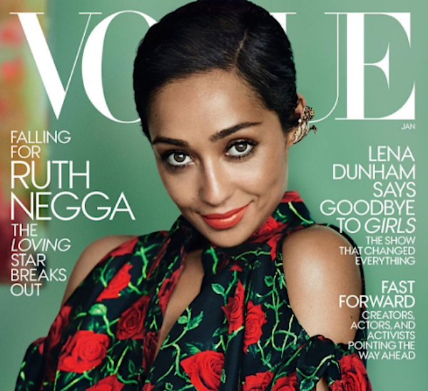 """Ruth Negga is on the January cover of """"Vogue"""" looking like an absolute stunner"""