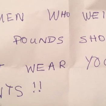 "This woman received a letter saying she's ""too big to wear leggings"" — her response is mic drop-worthy"