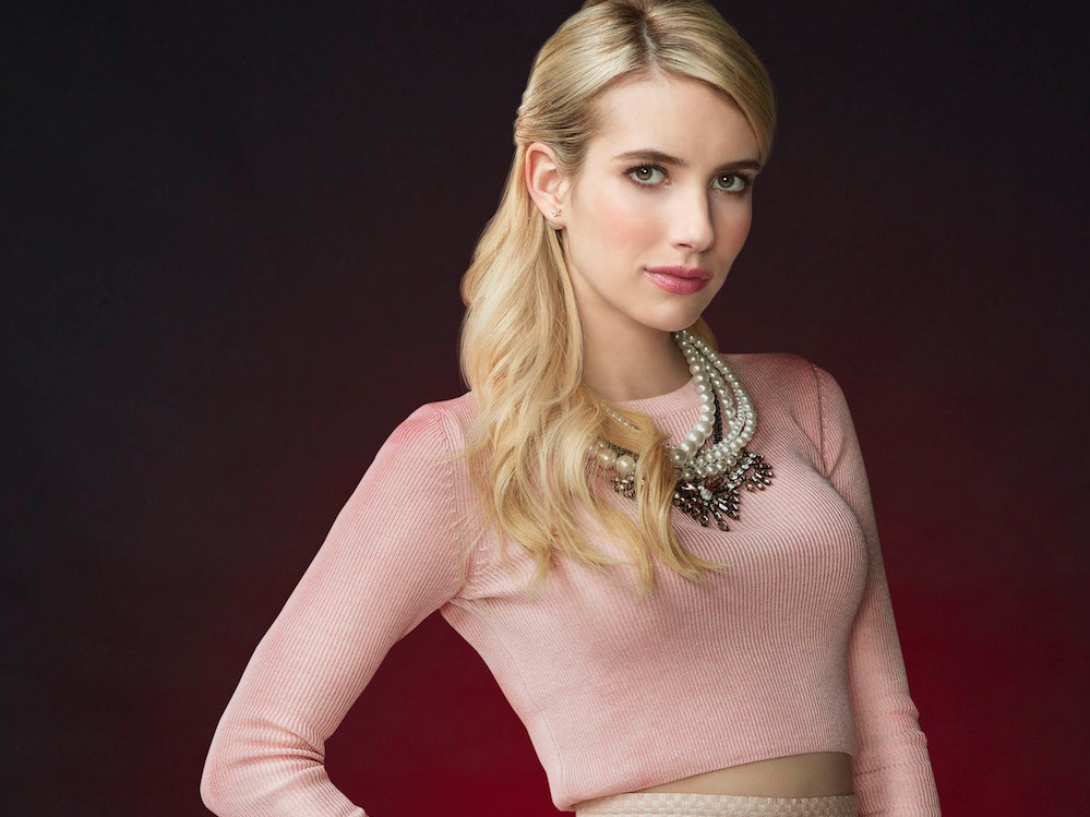 Emma Roberts walked around in LA in a big fluffy dark green coat like the ultimate luxe kween