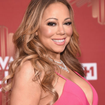 """Mariah Carey paired her mermaid evening gown with a plaid """"lumber jacket"""""""