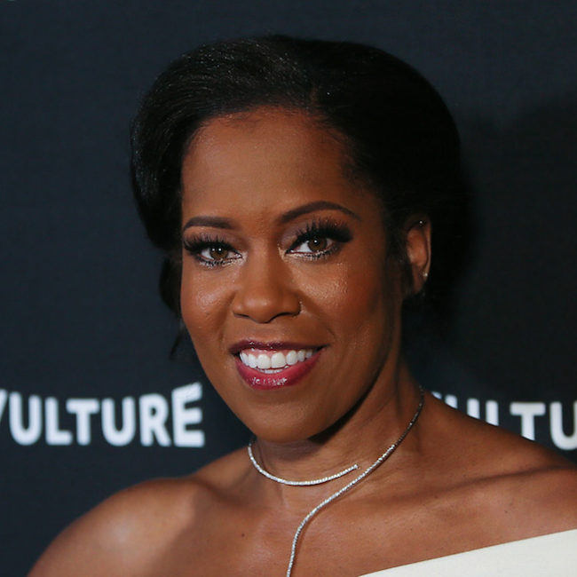 Regina King in this stunning one-shoulder white dress will knock you off your feet