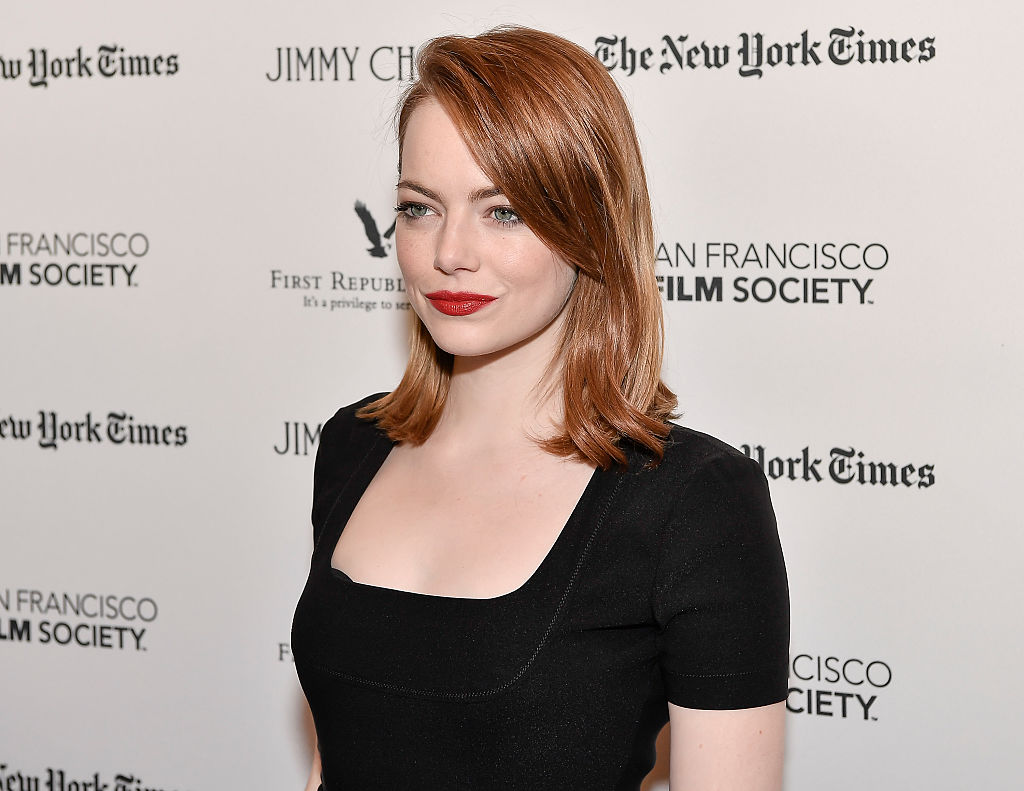 The shoes Emma Stone wore with a little black dress are too good for this world