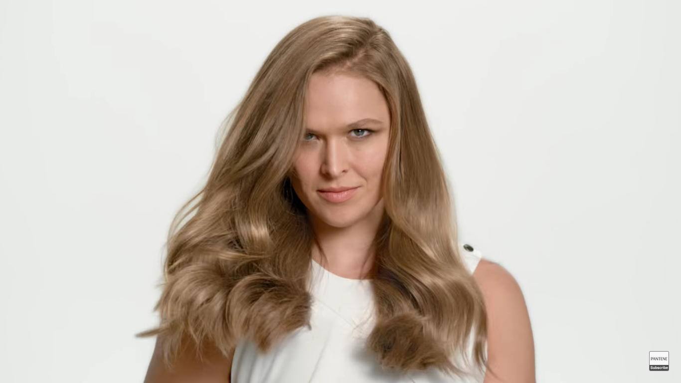 Ronda Rousey is Pantene's new spokesmodel and she's proving that strong is beautiful