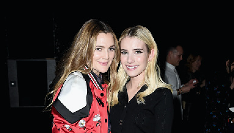 This pic of Emma Roberts and Drew Barrymore twinning is giving us friendship feels