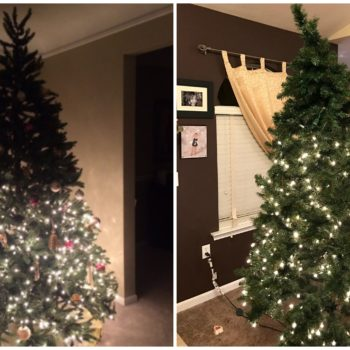 These photos prove half-lit Christmas trees are all the rage this winter
